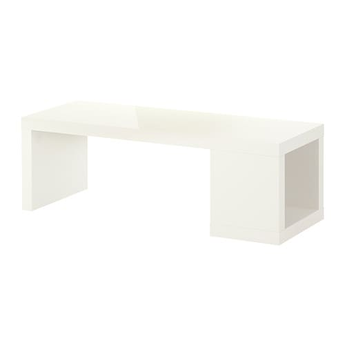 LACK Coffee table IKEA The high-gloss surfaces reflect light and give a vibrant look.  One open compartment for storing magazines, remotes etc.