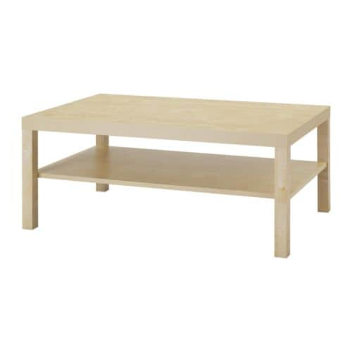 Lack coffee table birch effect ikea for Table ikea 4 99