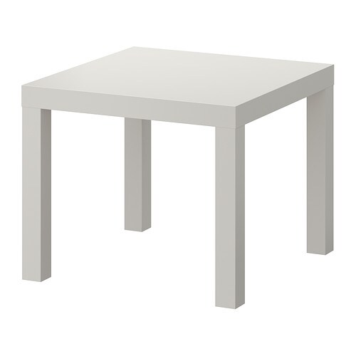 Lack side table gray 21 5 8x21 5 8 ikea - Table carree ikea ...