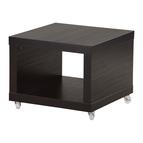 Lack Side Table On Casters Black Brown Ikea