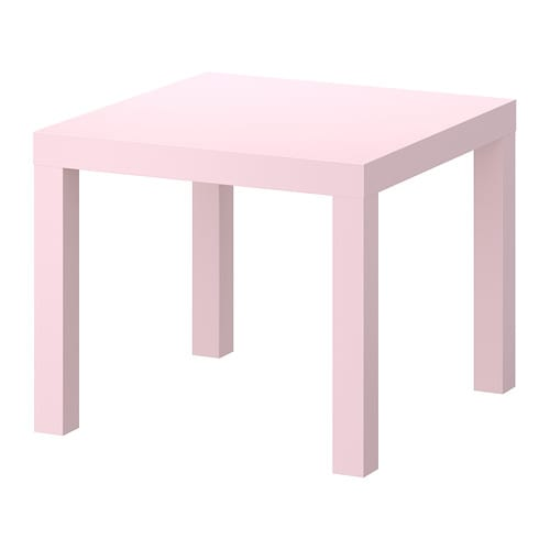 Lack side table pink 21 5 8x21 5 8 ikea for Table en pin ikea