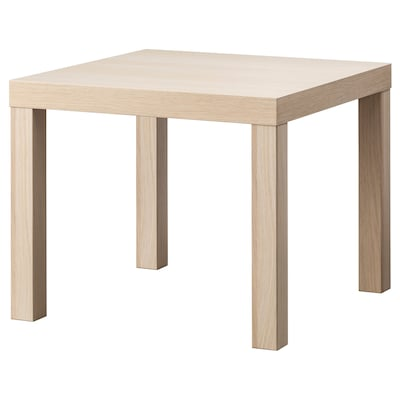"""LACK Side table, white stained oak effect, 21 5/8x21 5/8 """""""