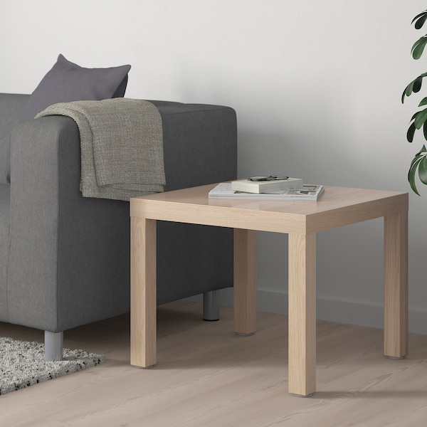 Lack Side Table White Stained Oak