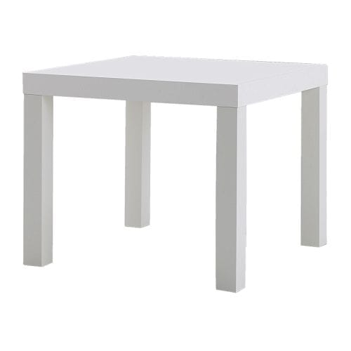 LACK Side table, white white 21 5/8x21 5/8