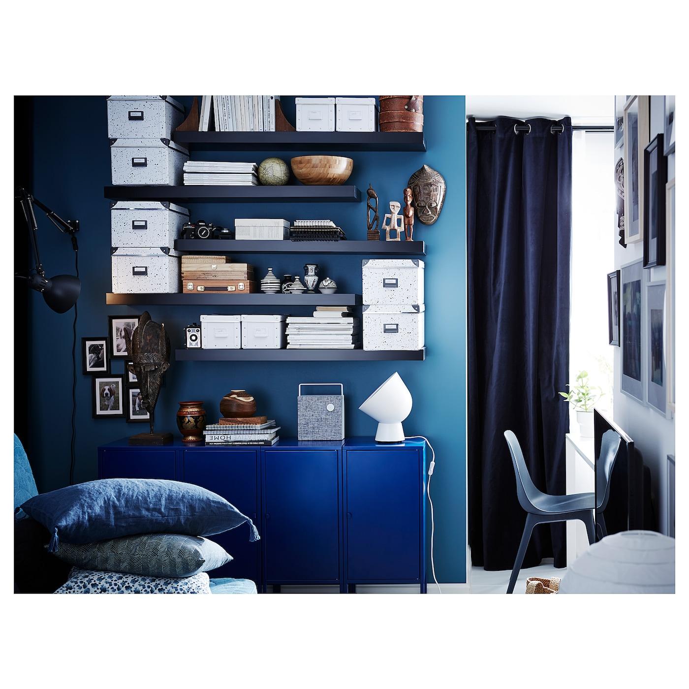 Lack Wall Shelf Black Brown 43 1 4x10 1 4 Ikea