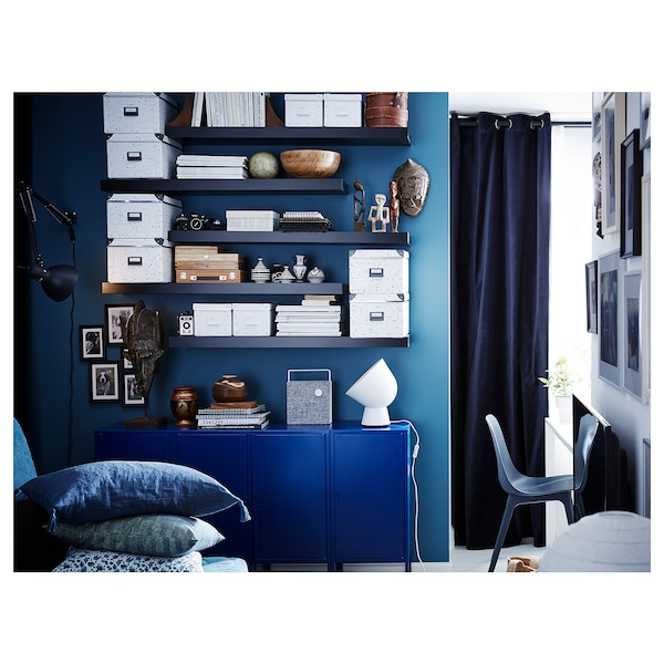 "LACK Wall shelf, black-brown, 43 1/4x10 1/4 """