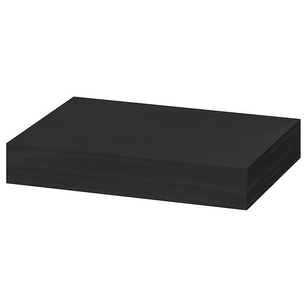 "LACK wall shelf black-brown 11 3/4 "" 10 1/4 "" 2 "" 7 lb"
