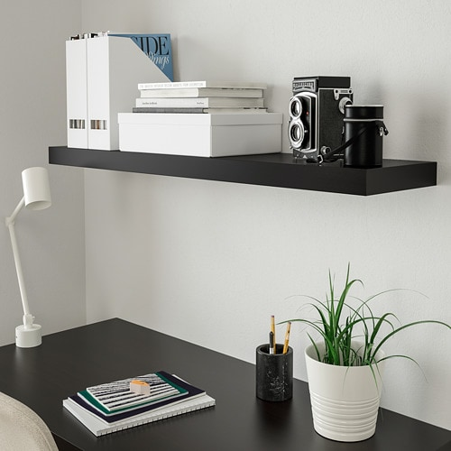 Admirable Lack Wall Shelf Black Brown Home Interior And Landscaping Ologienasavecom