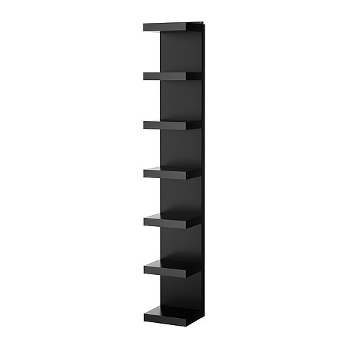 Lack wall shelf unit black ikea - Etagere murale cube ikea ...
