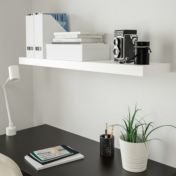 LACK Wall shelf, white, 43 1/4x10 1/4 ""