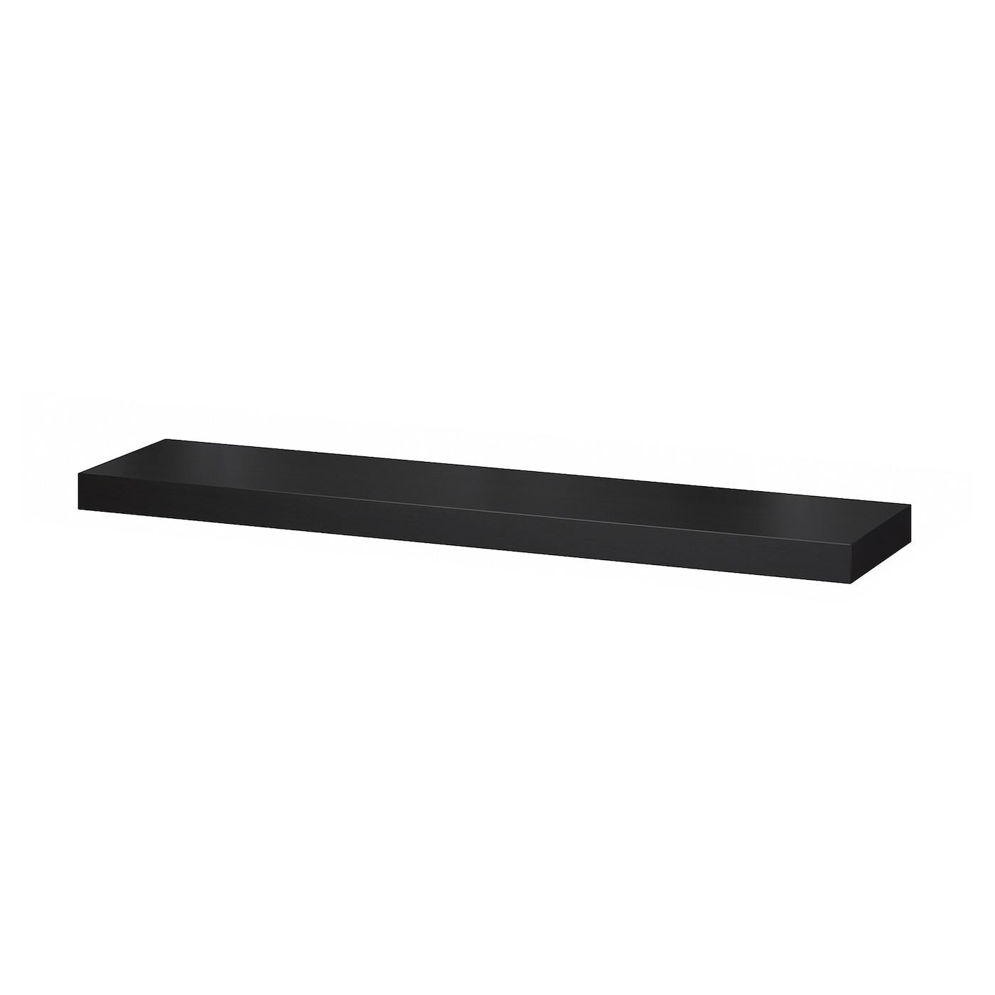 Wall Shelf Lack Black Brown