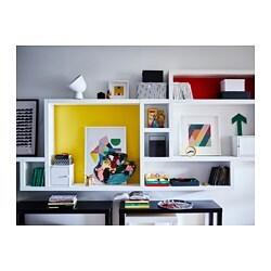 LACK - Wall shelf, black-brown
