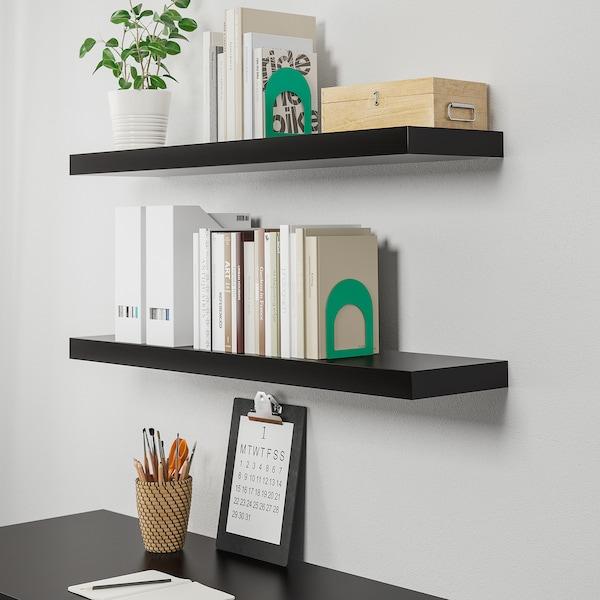 "LACK Wall shelf, black-brown, 43 1/4x10 1/4"" - IKEA"