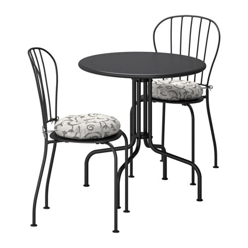 L ck table 2 chairs outdoor l ck gray steg n beige ikea - Table balcon suspendue ikea ...