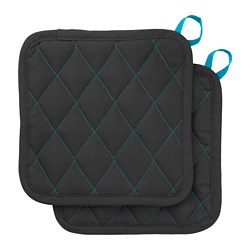 LACKTICKA pot holder, black
