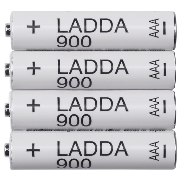 LADDA Rechargeable battery, HR03 AAA 1.2V