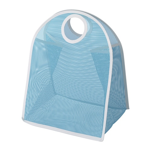 LÅDDAN Storage bag, blue, white blue/white -
