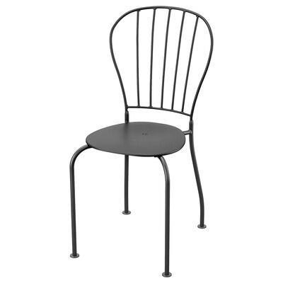 LÄCKÖ Chair, outdoor, gray
