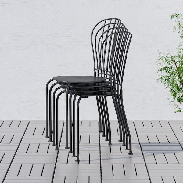 LÄCKÖ Chair, outdoor, gray