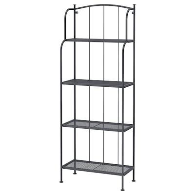 """LÄCKÖ shelving unit, outdoor gray 24 """" 12 5/8 """" 63 """" 53 lb"""