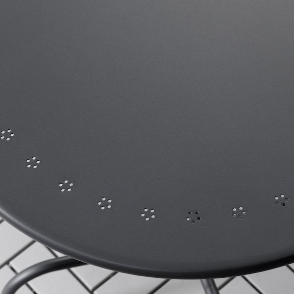 LÄCKÖ Table+2 chairs, outdoor, gray/Frösön/Duvholmen blue