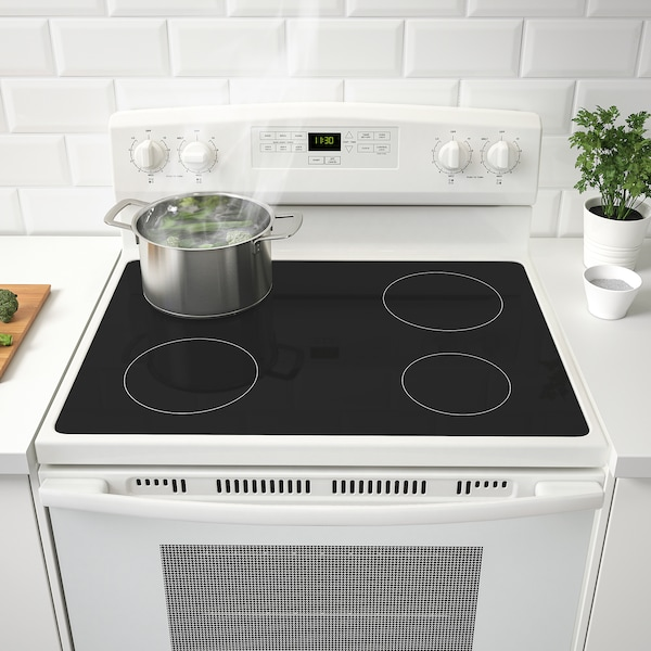 Lagan Range With Ceramic Cooktop White