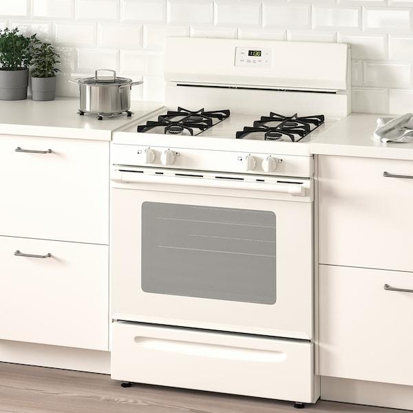 LAGAN Range with gas cooktop, white