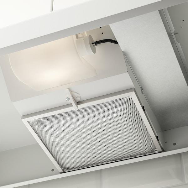 LAGAN Under cabinet range hood, white