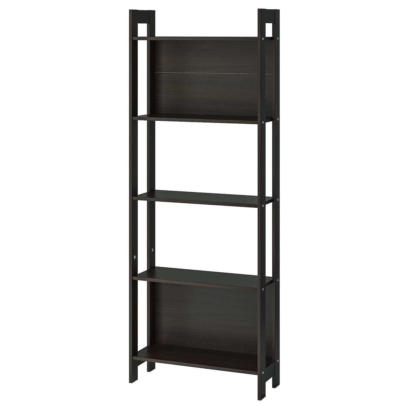 Laiva Bookcase Black Brown 24 3 8x65 Ikea