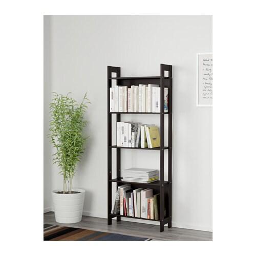 laiva bookcase black-brown 1