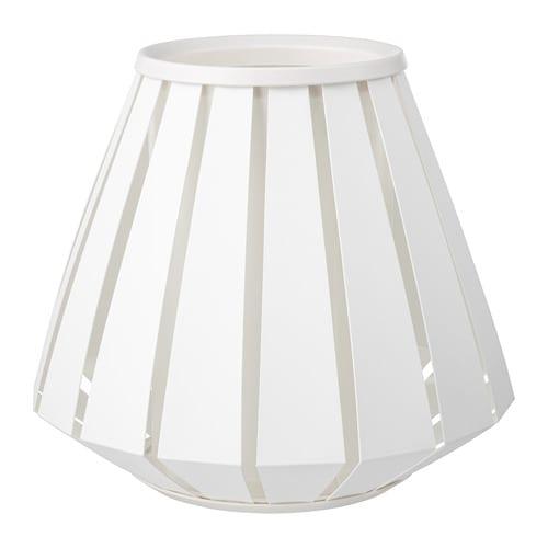 LAKHEDEN Lamp shade, white white 11