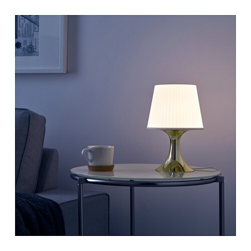 LAMPAN Table lamp with LED bulb IKEA Creates a soft, cozy mood light in your room.