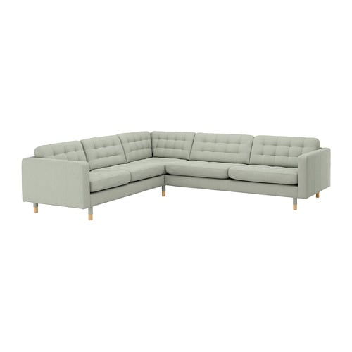 Landskrona Sectional 5 Seat Corner Gunnared Light Green