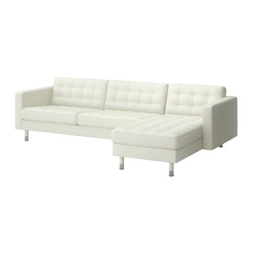 LANDSKRONA Sectional, 4-seat - Grann/Bomstad white, metal - IKEA
