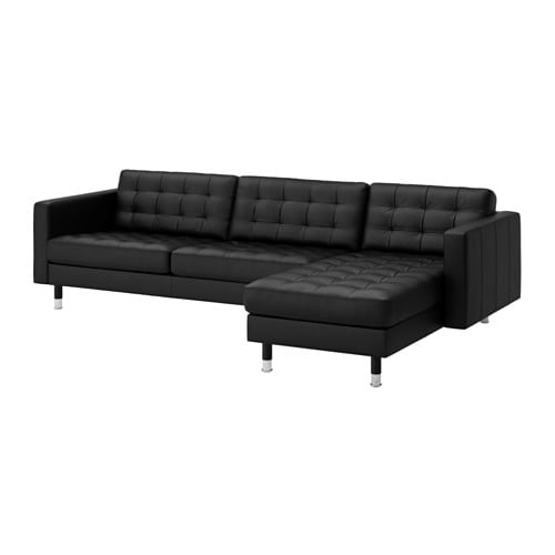 Landskrona sofa and chaise grann bomstad black metal ikea - Chaise en plastique ikea ...