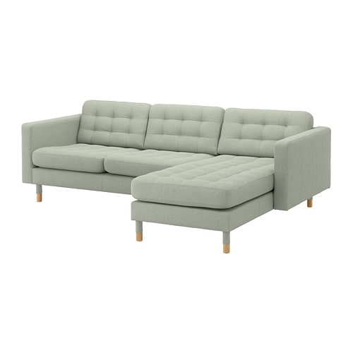 Superb Landskrona Sofa With Chaise Gunnared Light Green Wood Interior Design Ideas Lukepblogthenellocom