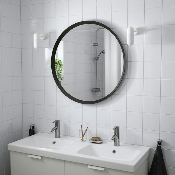 """LANGESUND Mirror, dark gray, 31 1/2 """""""