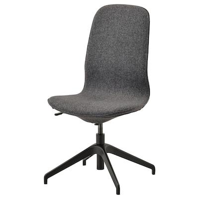 LÅNGFJÄLL Conference chair, Gunnared dark gray/black
