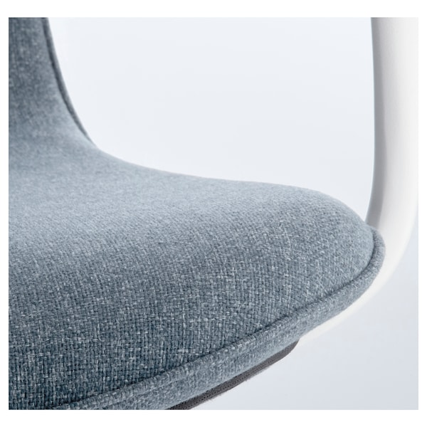 """LÅNGFJÄLL conference chair with armrests Gunnared blue/white 243 lb 26 3/8 """" 26 3/8 """" 41 """" 20 7/8 """" 16 1/8 """" 16 7/8 """" 20 7/8 """""""