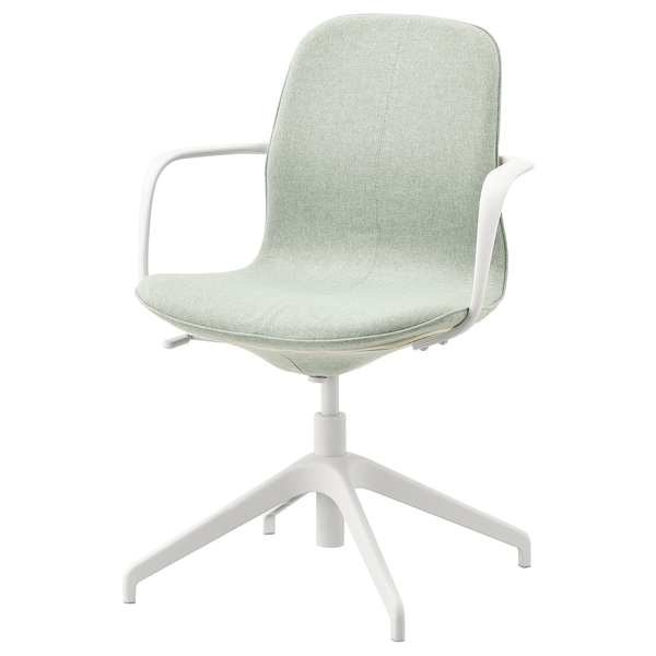 Tremendous Conference Chair With Armrests Langfjall Gunnared Light Green White Gmtry Best Dining Table And Chair Ideas Images Gmtryco