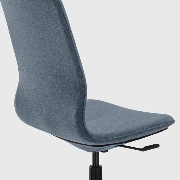 LÅNGFJÄLL Office chair, Gunnared blue/black