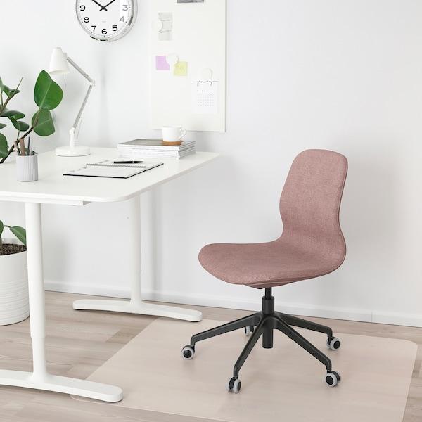 LÅNGFJÄLL Office chair, Gunnared light brown-pink/black