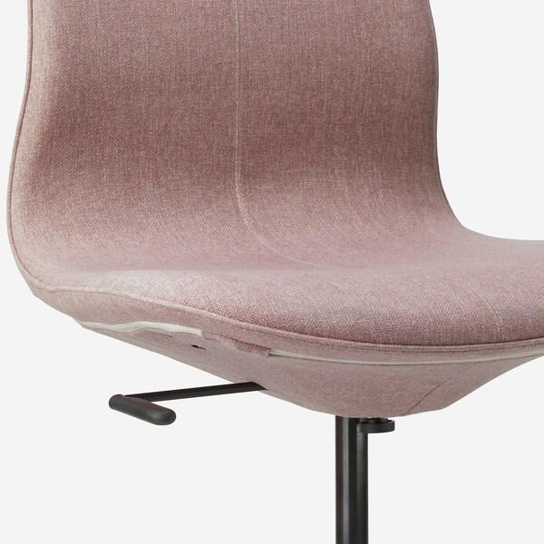 """LÅNGFJÄLL office chair Gunnared light brown-pink/black 243 lb 26 3/4 """" 26 3/4 """" 41 """" 20 7/8 """" 16 1/8 """" 16 7/8 """" 20 7/8 """""""