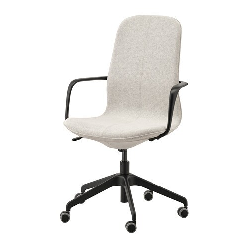 Cool Langfjall Office Chair With Armrests Gunnared Beige Black Home Remodeling Inspirations Cosmcuboardxyz