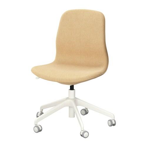 L ngfj ll swivel chair gunnared yellow white ikea for Ikea white swivel chair