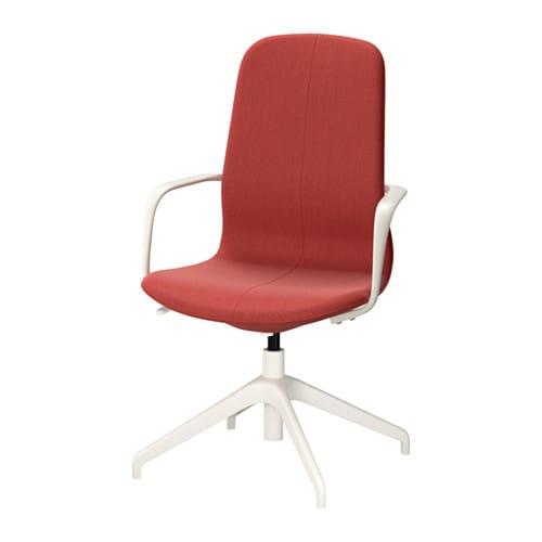 LÅNGFJÄLL Swivel chair Gunnared brown red white IKEA
