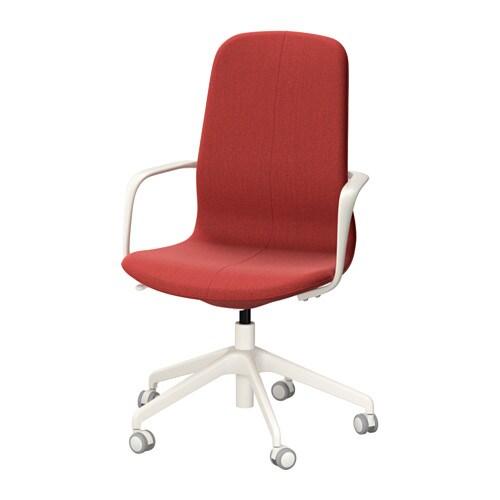 lÅngfjÄll swivel chair - gunnared brown-red, white - ikea