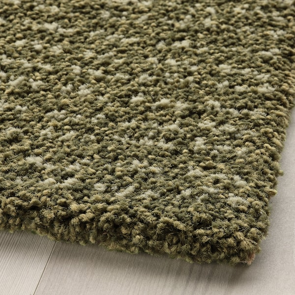 "LANGSTED Rug, low pile, dark green, 2 ' 0 ""x2 ' 11 """