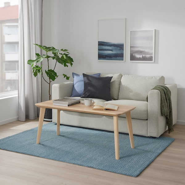 """LANGSTED Rug, low pile, light blue, 4 ' 4 """"x6 ' 5 """""""
