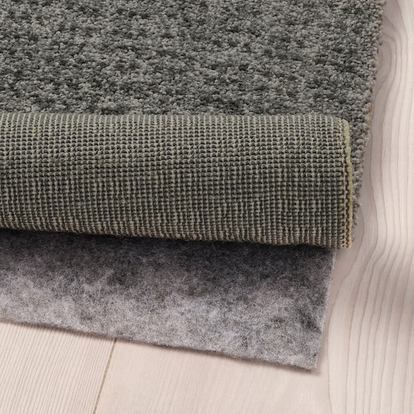 """LANGSTED Rug, low pile, light gray, 4 ' 4 """"x6 ' 5 """""""